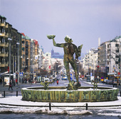 Götaplatsen, Göteborg vinter