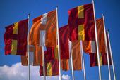 Helsingborg stads flagga, Skåne