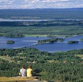 Utsikt över Siljan, Dalarna