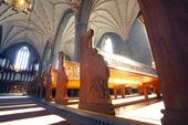 Interiör från Vadstena klosterkyrka, Östergötland