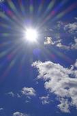 Solen och moln