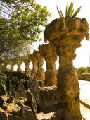 Parc Güell i Barcelona, Spanien