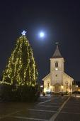 Julgran på Kungsbacka torg, Halland