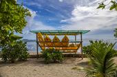 Kajaker på en strand, Filippinerna