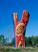 Skulptur Y:et av B. Lindström, Medelpad