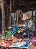 Marknad i Siem Reap, Cambodia.