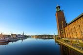Stockholms stadshus tidig morgon