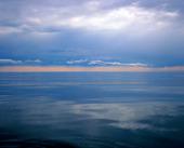 Skymning vid havet