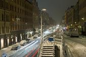 Vintertrafik, Hornsgatan, Stockholm