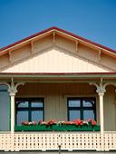 Balkong på äldre hus