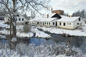 Vinter vid Strömsbergs bruk, Uppland