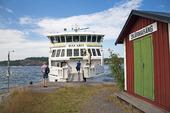 Skärgårdsbåt i Stockholms skärgård