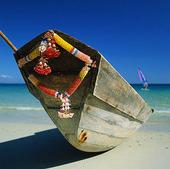 Båt på strand, Thailand