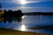 Fullmåne över Varpen i Bollnäs