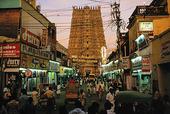 Menakshi Tempel i Madurai, Indien