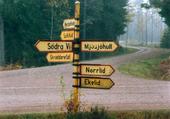Vägskylt i Småland