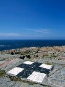 Målad klipphäll på Hallands Väderö