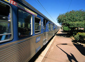 Tåg vid Antibes, Frankrike