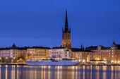 Vinterkväll i Stockholm