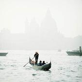 Gondol i Venedig, Italien