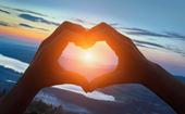 Hjärttecken i landskap