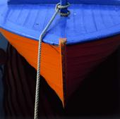 Förtöjd fritidsbåt