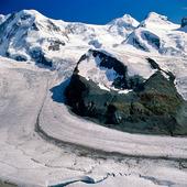 Gorner glaciär, Schweiz