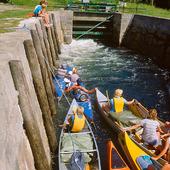 Kanoter i sluss, Värmland