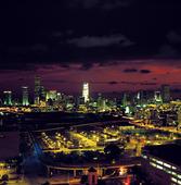 Miami in the dusk, USA