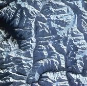Satellitbild över Himalaya, Indien