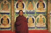 Buddistmunk i Tibet, Kina