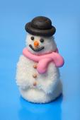 Snögubbe gjord av socker