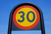 Hastighetsbegränsning, 30 km/tim