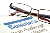 Glasögon på en affärshandlingar