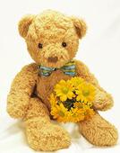 Nallebjörn med blommor