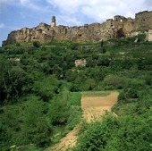 Pitigliano i Toscana, Italien