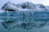 Glaciär på Svalbard, Norge