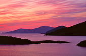 Solnedgång vid Irlands kust