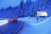 Bilar på vinterväg