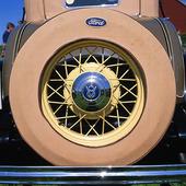 Reservhjul på veteranbil