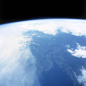 Satellitbild över Norge/Sverige