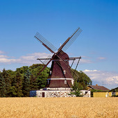 Väderkvarn vid Flenige, Skåne