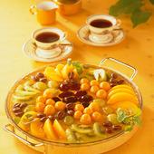 Kaffe och fruktkaka