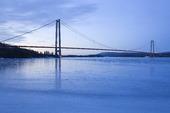 Höga kustenbron vintertid, Ångermanland