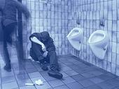 Människor på toalett