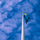 Hängande Svensk flagga