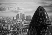 Flygfoto över London, Storbritannien