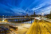 Tunnelbanespår till Gamla stan i Stockholm
