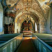 Interiör Kungslena kyrka, Västergötland