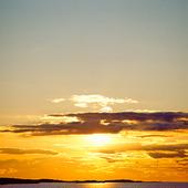 Solnedgång över Saltö, Bohuslän
